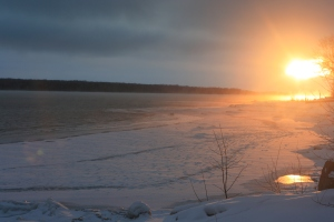 Winter Sunrise on Georgian Bay